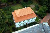 Foto z věže dům u věže